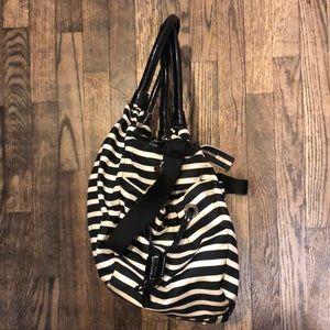 kate spade Bags - Kate Spade Black & White Striped diaper bag